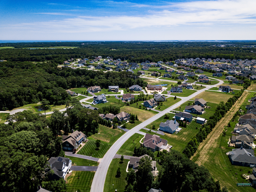 Streets aerial view | Hawkseye, Lewes, Delaware HOA Home Owners Association